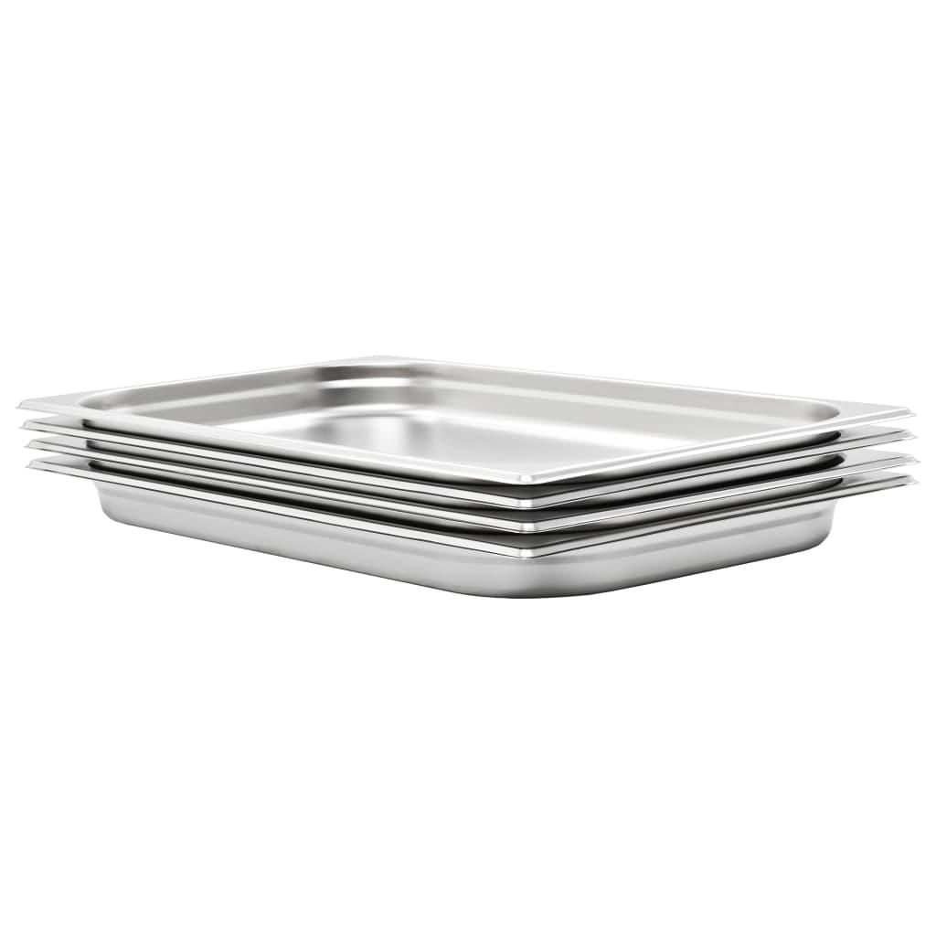 vidaXL Recipiente Gastronorm 4 buc. GN 1/1 40 mm oțel inoxidabil imagine vidaxl.ro