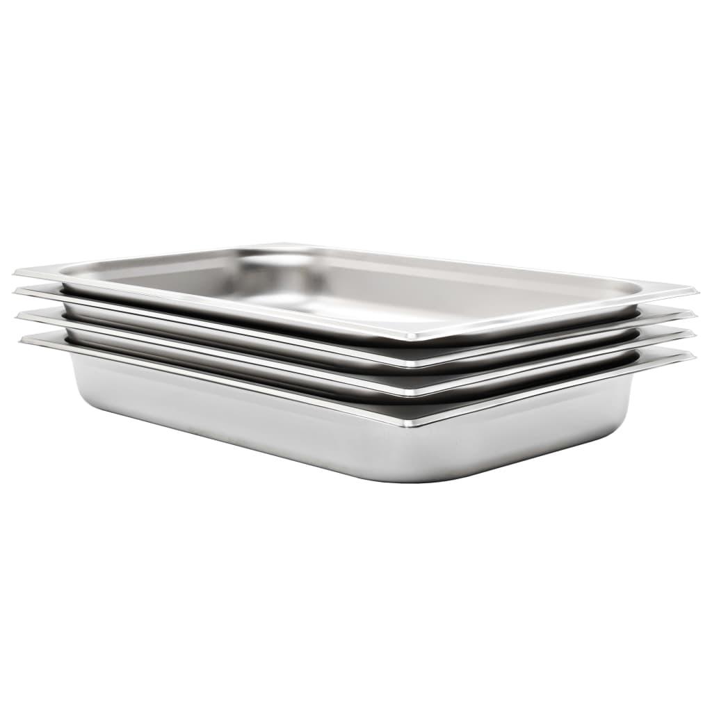 vidaXL Recipiente Gastronorm 4 buc. GN 1/1 65 mm oțel inoxidabil imagine vidaxl.ro