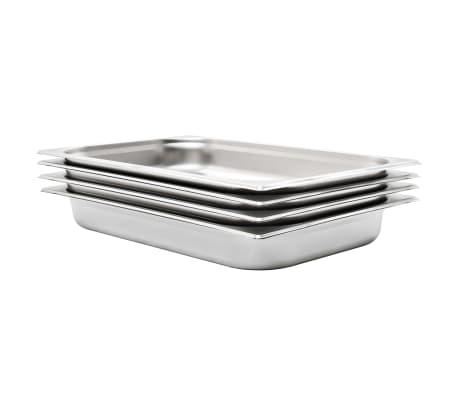 vidaXL Recipiente Gastronorm 4 buc. GN 1/1 65 mm oțel inoxidabil