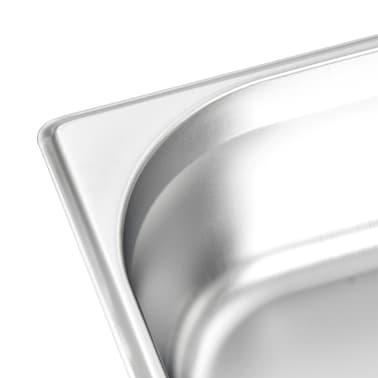 vidaXL pannas, 4 gab., 100 mm, GN 1/1, nerūsējošs tērauds[7/10]