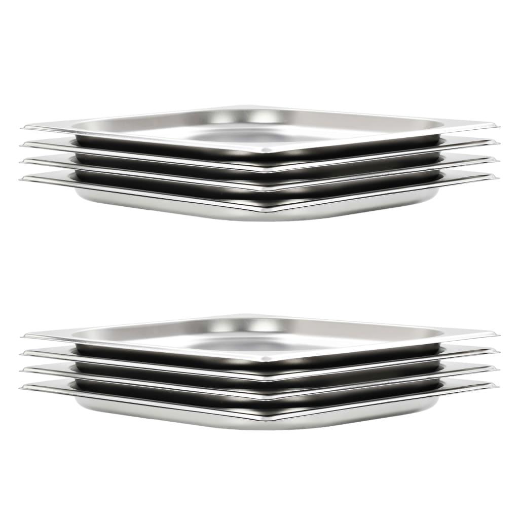 vidaXL Recipiente Gastronorm 8 buc. GN 1/2 20 mm oțel inoxidabil imagine vidaxl.ro