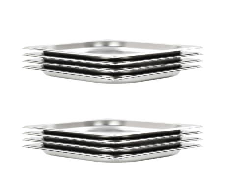 vidaXL Gastronormkantiner 8 st GN 1/2 20 mm rostfritt stål