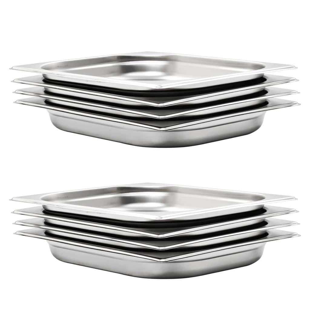 vidaXL Recipiente Gastronorm 8 buc. GN 1/2 40 mm oțel inoxidabil imagine vidaxl.ro