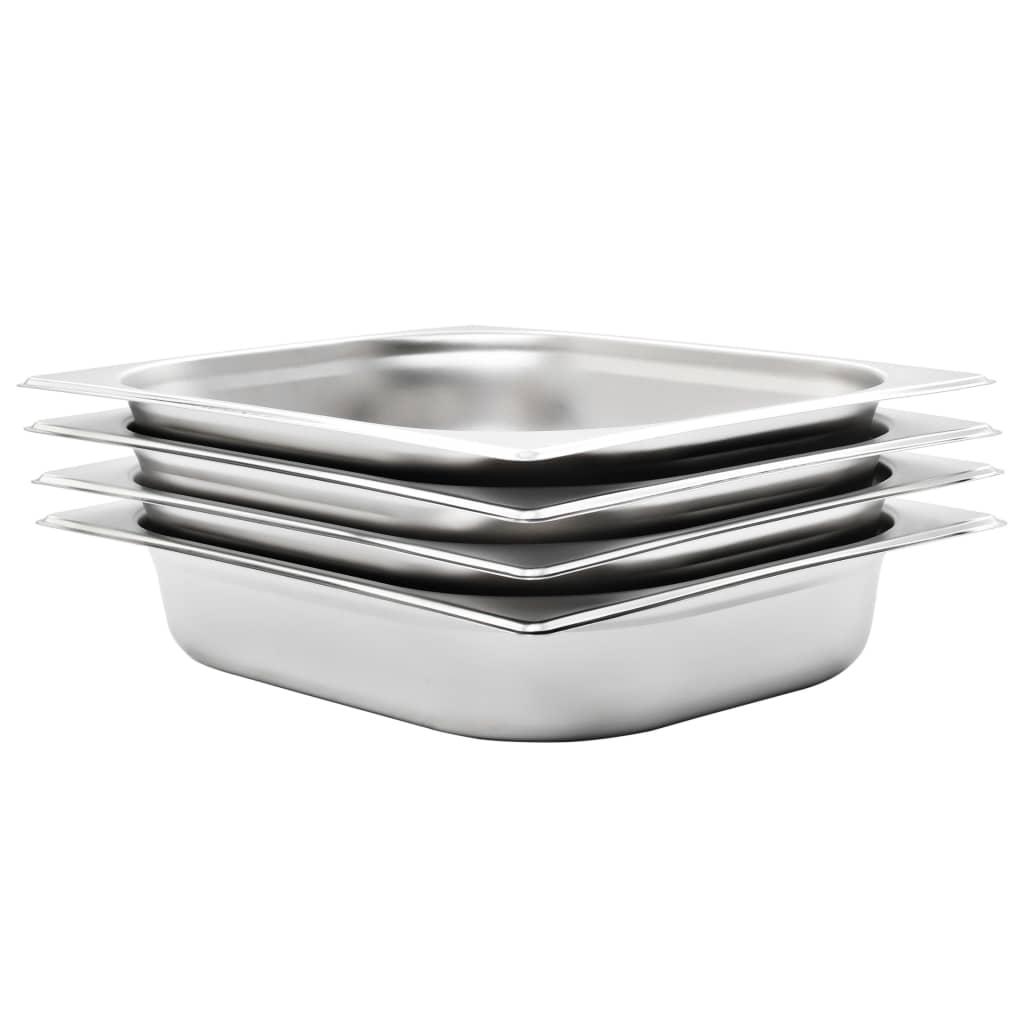 vidaXL Recipiente Gastronorm 4 buc. GN 1/2 65 mm oțel inoxidabil imagine vidaxl.ro