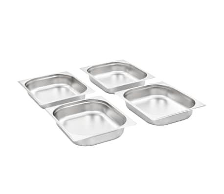 vidaXL Tace gastronomiczne, 4 szt., GN 1/2, 65 mm, stal nierdzewna[2/10]