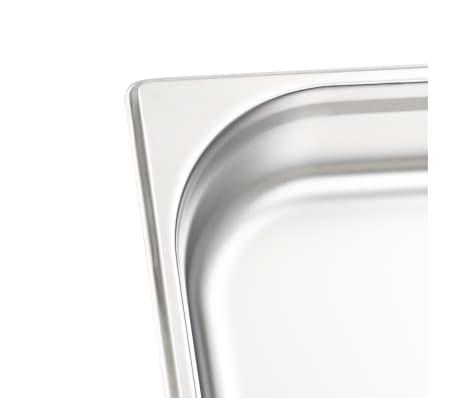 vidaXL Tace gastronomiczne, 4 szt., GN 1/2, 65 mm, stal nierdzewna[7/10]