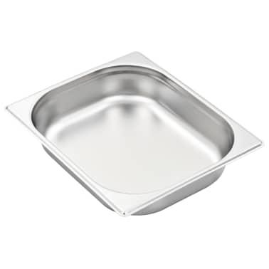 vidaXL Tace gastronomiczne, 4 szt., GN 1/2, 65 mm, stal nierdzewna[4/10]