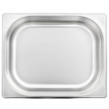 vidaXL Tace gastronomiczne, 4 szt., GN 1/2, 65 mm, stal nierdzewna[5/10]