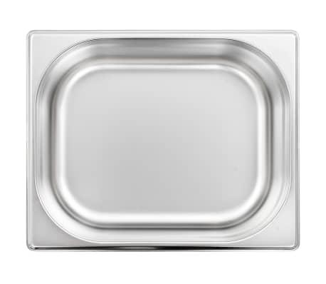 vidaXL Ugnsformar 4 st GN 1/2 100 mm rostfritt stål[5/10]