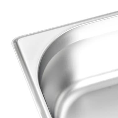 vidaXL Ugnsformar 4 st GN 1/2 100 mm rostfritt stål[7/10]