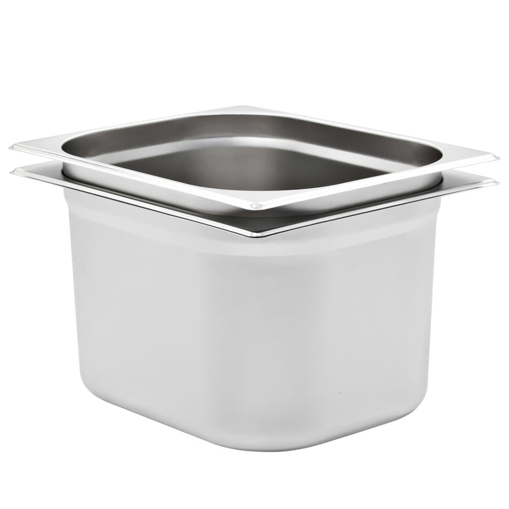 Gastronádoby 2 ks GN 1/2 200 mm nerezová ocel