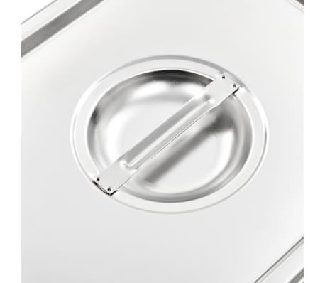 vidaXL Schaaldeksels 2 st GN 1/2 325x265 mm roestvrij staal[5/7]