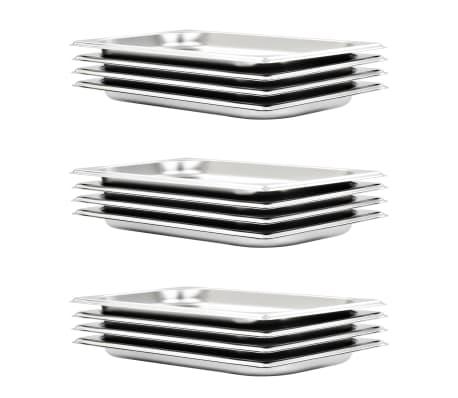 vidaXL Tace gastronomiczne, 12 szt., GN 1/3 20 mm, stal nierdzewna[1/10]