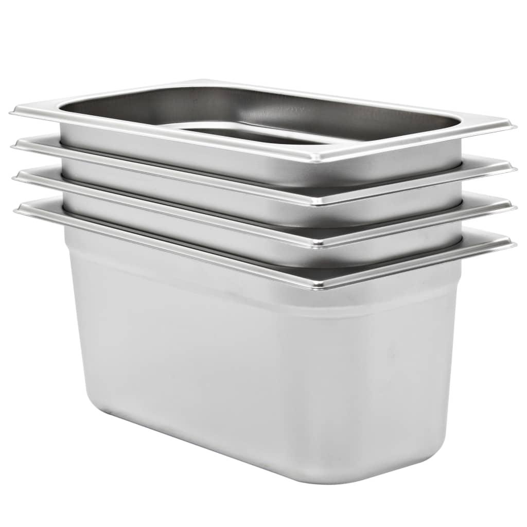 vidaXL Recipiente Gastronorm 4 buc. GN 1/3 150 mm oțel inoxidabil imagine vidaxl.ro