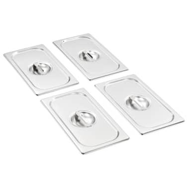 vidaXL Pokrywy do tac gastronomicznych, 4 szt., GN 1/3 325x176 mm[1/8]