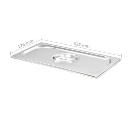 vidaXL Pokrywy do tac gastronomicznych, 4 szt., GN 1/3 325x176 mm[6/8]