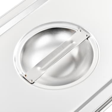 vidaXL Pokrywy do tac gastronomicznych, 4 szt., GN 1/3 325x176 mm[5/8]