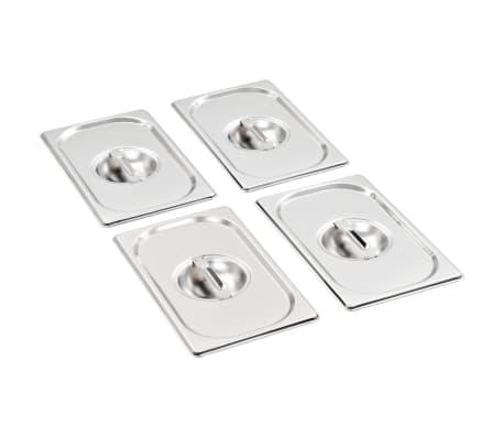 Capace pentru tavă GN 1/4, 4 buc., oțel inoxidabil