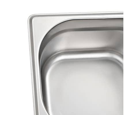 vidaXL Maisto gaminimo indai, 12vnt., GN 1/6, 100mm, nerūd. plien.[7/10]