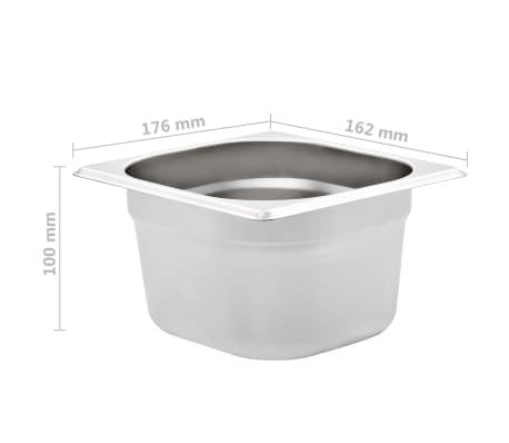 vidaXL Maisto gaminimo indai, 12vnt., GN 1/6, 100mm, nerūd. plien.[8/10]
