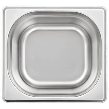 vidaXL Maisto gaminimo indai, 12vnt., GN 1/6, 100mm, nerūd. plien.[6/10]
