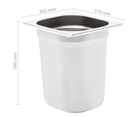 vidaXL Maisto gaminimo indai, 8vnt., GN 1/6, 200mm, nerūd. plien.[8/10]