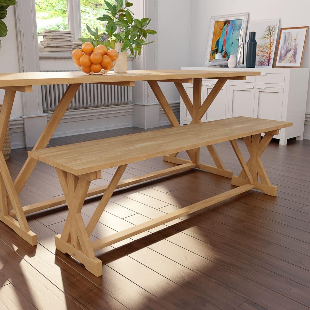vidaXL Bancă, 150 x 35 x 45 cm, lemn masiv de tec imagine vidaxl.ro