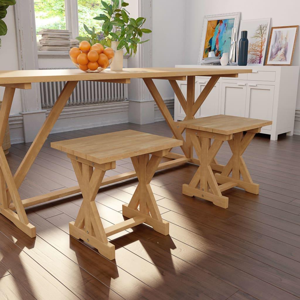 vidaXL Stolička masivní teakové dřevo