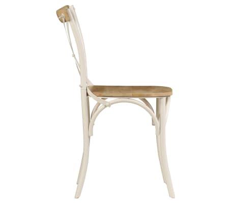 vidaXL Cross Chairs 2 pcs White Solid Mango Wood[5/15]