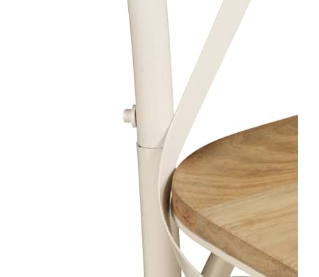 vidaXL Cross Chairs 2 pcs White Solid Mango Wood[9/15]