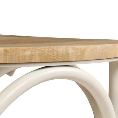 vidaXL Cross Chairs 2 pcs White Solid Mango Wood[10/15]