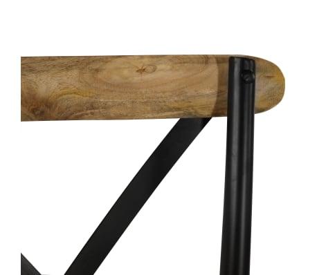 vidaXL Cross Chairs 2 pcs Black Solid Mango Wood[7/15]