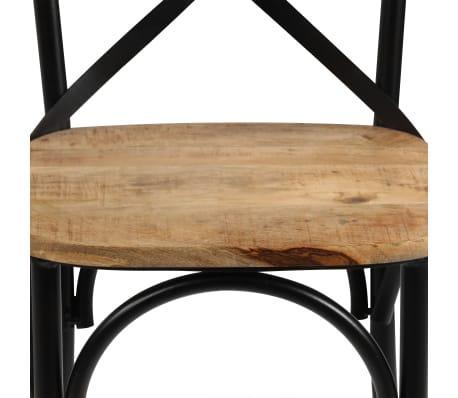 vidaXL Cross Chairs 2 pcs Black Solid Mango Wood[8/15]