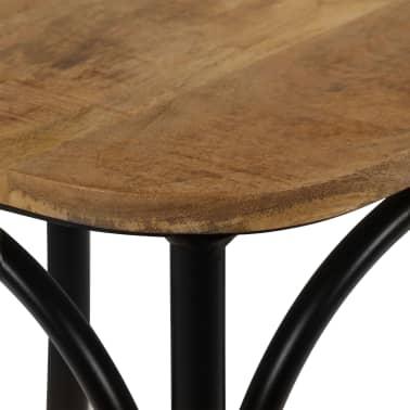vidaXL Cross Chairs 2 pcs Black Solid Mango Wood[10/15]
