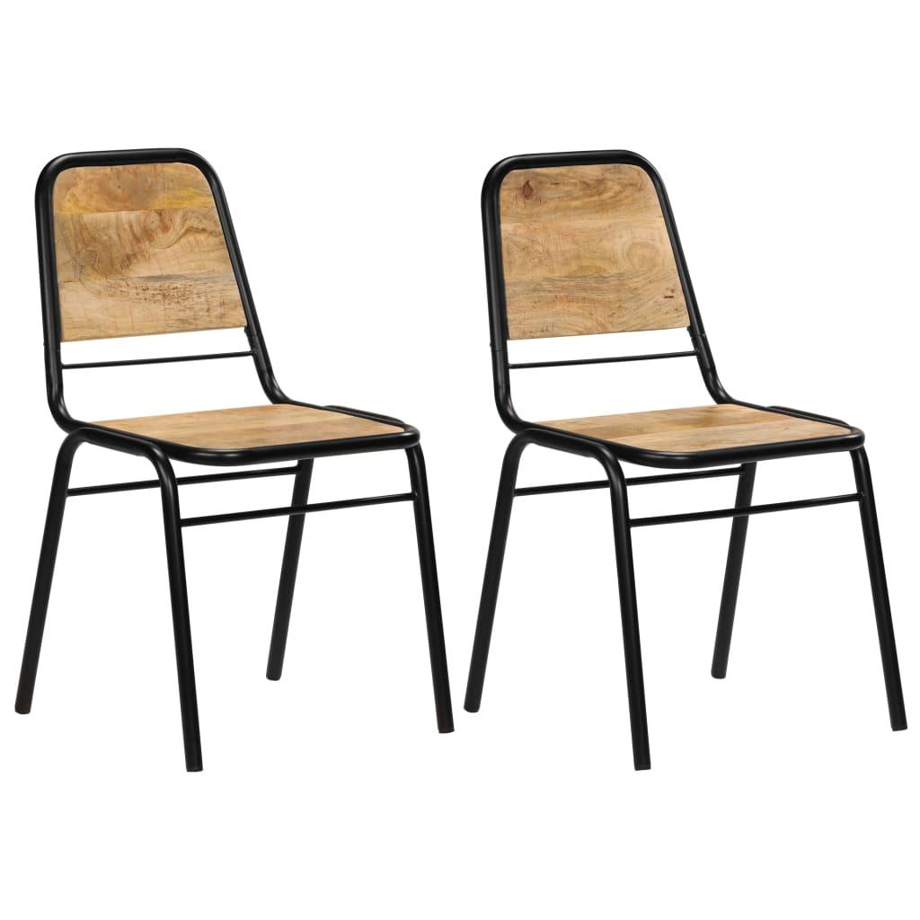 vidaXL Καρέκλες Τραπεζαρίας 2 τεμ. 44 x 59 x 89 εκ. Μασίφ Ξύλο Μάνγκο