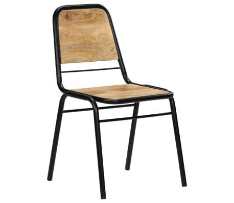 vidaXL Dining Chairs 2 pcs Solid Mango Wood[14/14]