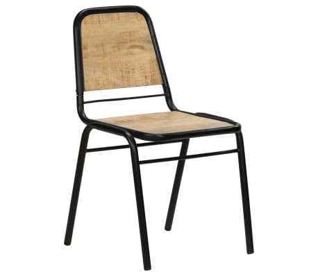 vidaXL Dining Chairs 2 pcs Solid Mango Wood[3/14]