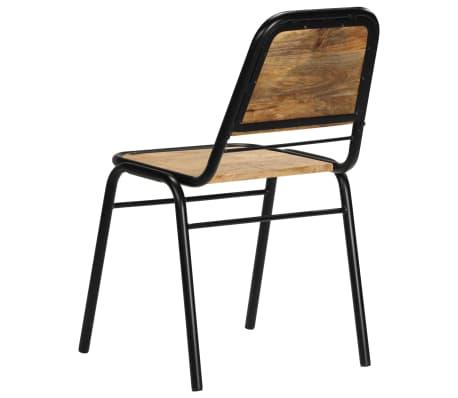 vidaXL Dining Chairs 2 pcs Solid Mango Wood[6/14]