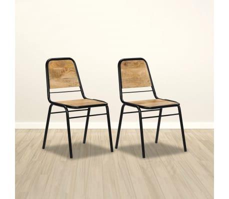 vidaXL Dining Chairs 2 pcs Solid Mango Wood[7/14]