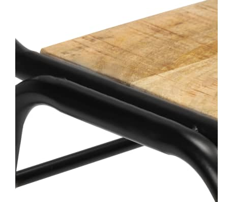 vidaXL Dining Chairs 2 pcs Solid Mango Wood[10/14]