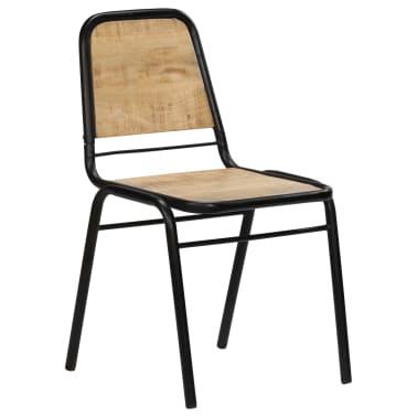 vidaXL Dining Chairs 2 pcs Solid Mango Wood[2/14]