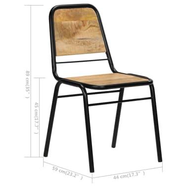 vidaXL Dining Chairs 2 pcs Solid Mango Wood[11/14]