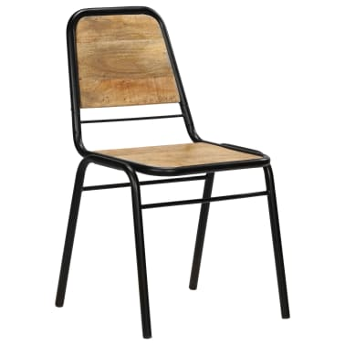 vidaXL Dining Chairs 2 pcs Solid Mango Wood[12/14]