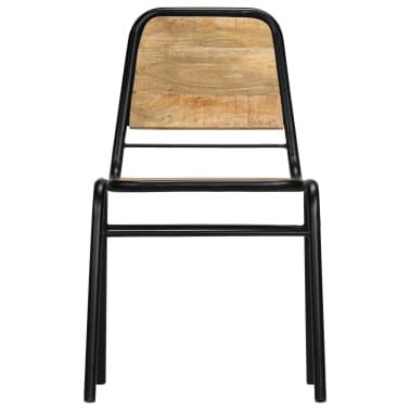 vidaXL Dining Chairs 2 pcs Solid Mango Wood[4/14]