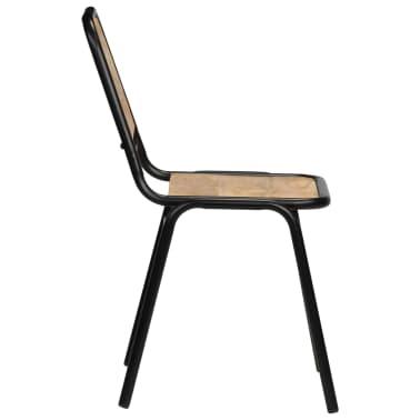 vidaXL Dining Chairs 2 pcs Solid Mango Wood[5/14]