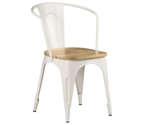 vidaXL Dining Chairs 2 pcs White Solid Mango Wood[13/13]