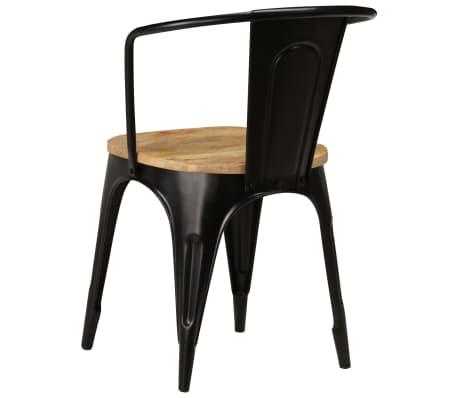 vidaXL Dining Chairs 2 pcs Black Solid Mango Wood[6/13]