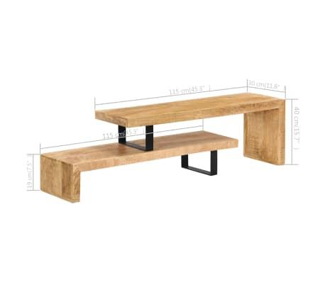 vidaXL TV Stand Solid Mango Wood[14/17]