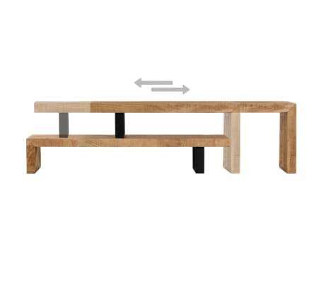 vidaXL TV Stand Solid Mango Wood[6/17]