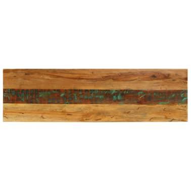 vidaXL Konsolinis staliukas, 120x35x76cm, perdirbtos med. masyvas[4/14]